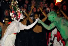 The rebirth of the green man as part of the Beltane fire festival Edinburgh when our King has returned.