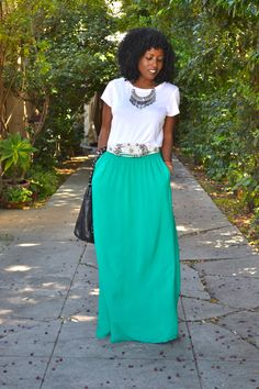 totally cute <3 a maxi dress that looks like a basic t & maxi. <3 it definitely makin one of these