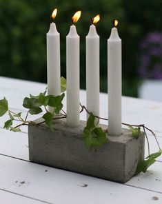 creative and clever DIY Projects for your home. Then check out our newest collection of Concrete DIY Projects! Cement Art, Concrete Cement, Concrete Crafts, Concrete Projects, Concrete Design, Diy Projects, Art Concret, Concrete Candle Holders, Fancy Houses
