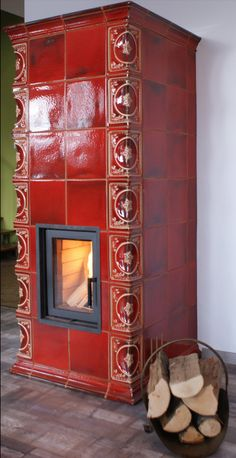 Wood Stove Heater, Stove Fireplace, Home Organization, Tiles, Backyard, House Design, Fireplaces, Home Decor, Kitchen