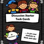 These task cards include 36 thought-provoking questions to get your students to think and talk.  $