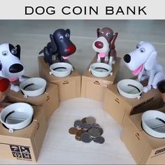 "Limited Time Offer Sale - 50 % OFF - Dog Coin Bank >>Dog Piggy Bank Also Children's Accompany Toy - >Dog Piggy Bank Also Children's Accompany Toy""> More than of people buy two >>(Buy 2 Free Sh - Ship Dog, Money Bank, Inside The Box, Dog Eating, Cool Things To Buy, Stuff To Buy, Piggy Bank, Christmas Diy, Christmas Crack"