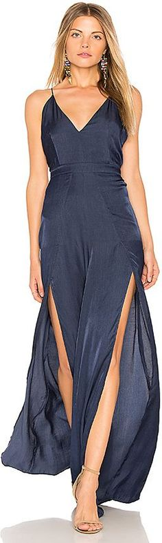 THE JETSET DIARIES Galadriel Jumpsuit in Navy. - size L (also in M,S,XS)