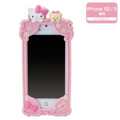Hello Kitty iPhone 5 5S Silicone Cover Case Deco Decoration SANRIO JAPAN