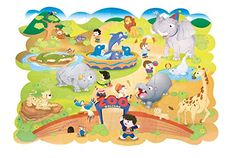Chenille Kraft Zoo Animals Floor Puzzle * Read more reviews of the product by visiting the link on the image. (Note:Amazon affiliate link) #ToysGames2To4Years