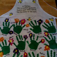 An art apron I made for my student teacher