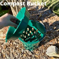 Compost ALL of your kitchen food scraps including meat, citrus, onion and even small bones in your Go Eco Compost Bucket Compost Bucket, Eco Store, Organic Soil, Food Waste, Onion, Bones, Meat, Kitchen, Cucina