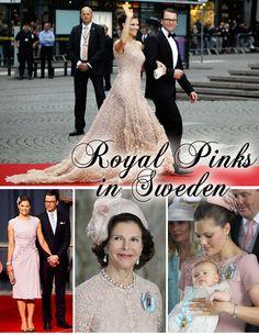 Crown Princess Victoria wears pink
