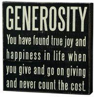 Generosity  #itsaboutgiving