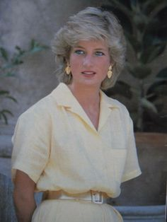 The Princess of Wales at the Marivent Palace in Majorca on August 1987.