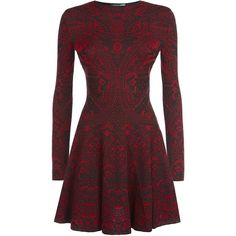 Alexander McQueen Lace Jacquard Long Sleeve Dress found on Polyvore