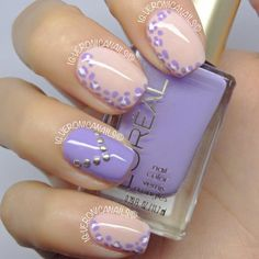Purple & Sheer Leopard Print with Studs
