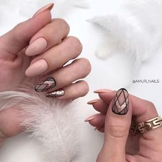If you keen on cute nail designs, rose gold nail designs are perfect for you. Rose gold nail design is the prettiest manicure that you can ever try. Nude Nails With Glitter, Rose Gold Nails, Matte Nails, Pink Nails, My Nails, Gold Nail Designs, Almond Nails Designs, Rose Nail Design, Ongles Beiges