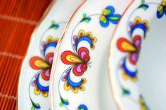 """Traditional china pattern from Porsgrunn Porselensfabrikk. The pattern is called """"Bondemønster"""""""