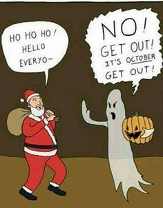 It's that time of year again. Halloween is coming. For a Halloween joke, all the Hogwarts ghosts dress up as mortals it…never fools anyone When Halloween is your favorite holiday and your trying to Funny Quotes, Funny Memes, Hilarious, Qoutes, Funny Cartoons, It's Funny, Holidays Halloween, Halloween Fun, Halloween Decorations