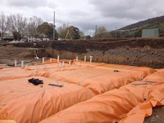 The slab being prepared for the netball change rooms. (September 2013)