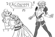 Agony | Fenris and Anders, for where the fandoms of Dragon Age and Broadway intersect. Perrrfectly accurate, btw.