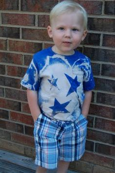 Make your own t-shirts with bleach filled water guns! .... Kids favors.  Could do a variation
