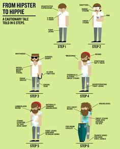 From Hipster To Hippie #infographic