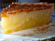 Buttermilk Pie  ~  One of the most delicious ever!