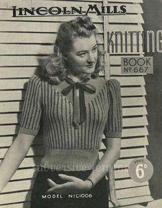 Pretty and Fancy Striped Pullover c. 1940s   par SubversiveFemme