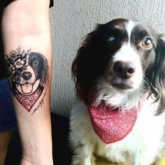 dog, tattoo, and animal image Dog Tattoos, Animal Tattoos, Wrist Tattoos, Sexy Tattoos, Cute Tattoos, Beautiful Tattoos, Flower Tattoos, Body Art Tattoos, Tatoos