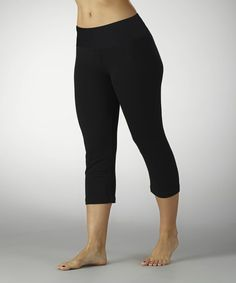 Another great find on #zulily! Black Tummy Control Shaper Capri Leggings - Women #zulilyfinds