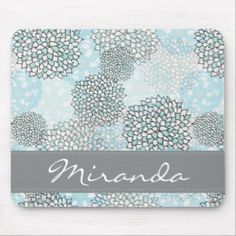 Shop Modern Trendy Floral Pattern Personalized Mouse Pad created by DancingPelican. Personalize it with photos & text or purchase as is! Ipad Sleeve, Custom Mouse Pads, Marble Pattern, Corner Designs, White Elephant Gifts, Floral Watercolor, Phone Cases, Font Styles, Mousepad
