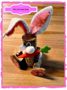 Make it easy crafts: How to make an adorable wine cork Easter bunny