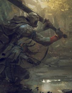 """Symbaroum RPG: """"The ogres emerge fully grown from the depth of Davokar, without memories, without names and without a language to make themselves understood. It is up to the humans who take them in to name them and teach them the ways of the world."""" (Image: Järnringen)"""