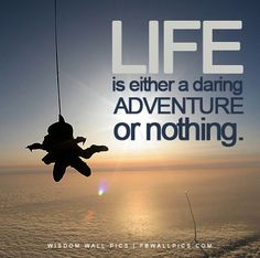 skydiving motivational quote
