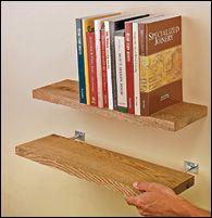Blind Shelf Supports - Hardware - DIY Floating Woodshelves (reclaimed wood)
