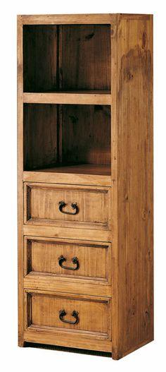 #vitrina #rústica con cajones madera maciza color pino anogalado ref: 45015, con dos huecos superiores, en estilo mejicano. Más información en: http://rusticocolonial.es/mueble-rustico-y-mueble-mejicano-de-gran-calidad-al-mejor-precio/muebles-de-salon-rusticos-y-mejicanos-de-gran-calidad-al-mejor-precio/vitrinas-rusticas-y-mejicanas-de-gran-calidad-al-mejor-precio/vitrina-rustica-madera-maciza-grande-color-pino-anogalado-ref-45025-detail