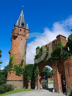 Tower and gate of Red Castle in Hradec Nad Moravici