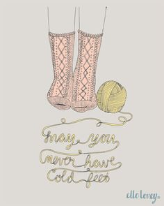 Never Have Cold Feet - Art Print - 8x10. $19.00, via Etsy.
