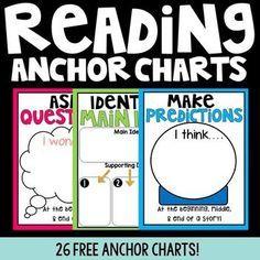 26 FREE Reading Anchor Charts!