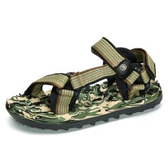 12cd2a60a Sale 19% (24.42$) - Men Sandals Casual Camouflage Hook Loop Beach Shoes