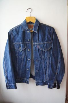 Levis denim jacket LEVI'S BIG E Dark Denim Jeans by DorisVintage