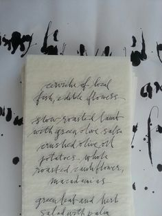 Menu lettering to my friend @sabinepick