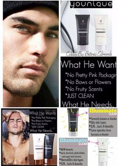 Did you know that Younique has an AMAZING skincare line? Younique has cleansers and moisturizers that is made with aloe vera and men love it just as much as women because they can't get enough of it...lol :)  https://www.tammybeautybar.com