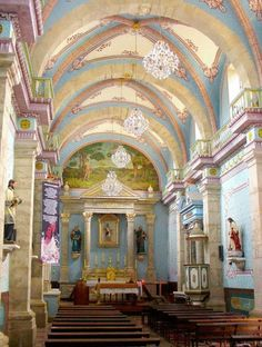 "Inside San Sebastian church. 1 and 1/2 hr. drive from Puerto Vallarta. What a wonderful old ""mining town"" to visit."