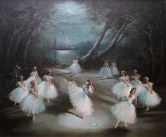 """""""To touch, to move, to inspire. This is the true gift of dance. Painting by Carlotta Edwards of the Royal Ballet,… 12 Dancing Princesses, Dancing Dolls, Ballet Painting, Vintage Ballet, Ballet Beautiful, Dark Photography, Swan Lake, Ballet Dancers, Ballerinas"""