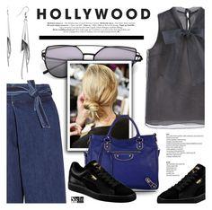 """My Style"" by defivirda ❤ liked on Polyvore featuring Sea, New York, DKNY, Puma and Balenciaga"
