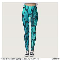 Scales of Fashion Leggings in Beached : Beautiful #Yoga Pants - #Exercise Leggings and #Running Tights - Health and Training Inspiration - Clothing for #Fitspiration and #Fitspo - #Fitness and #Gym #Inspo - #Motivational #Workout Clothes - Style AND #comfort can both be possible in one perfect pair of custom #leggings. #Scales of Fashion Leggings in Beached was crafted made with care each pair of leggings is printed before being sewn allowing for #fun and #creative designs on every square…