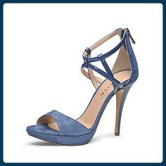 VALERIA Damen Sandalette Kombi blau 42 - Sandalen für frauen (*Partner-Link)