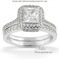 Julia Lab Created Bridal Set - http://www.lab-diamonds.com/engagement-rings/bridal-sets/julia-bridal-set.html