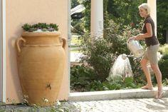 Tuindesign: Regenton en plantenbak ineen.