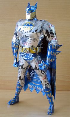 awesome recycled can sculptures by artist Makaon! BATMAAAN