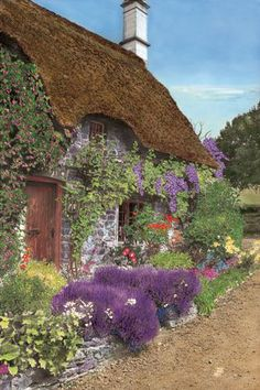 Thatched Cottage and English Garden