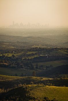 Kinglake - view of Melbourne by Daniel Pockett, via Flickr